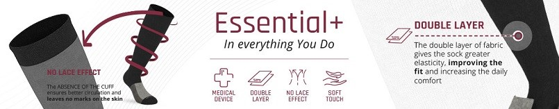 Voordelen Essential+ compressiekousen
